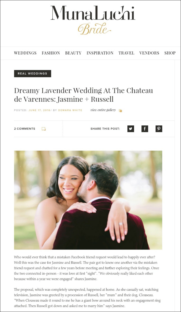 wedding featured on munalchi