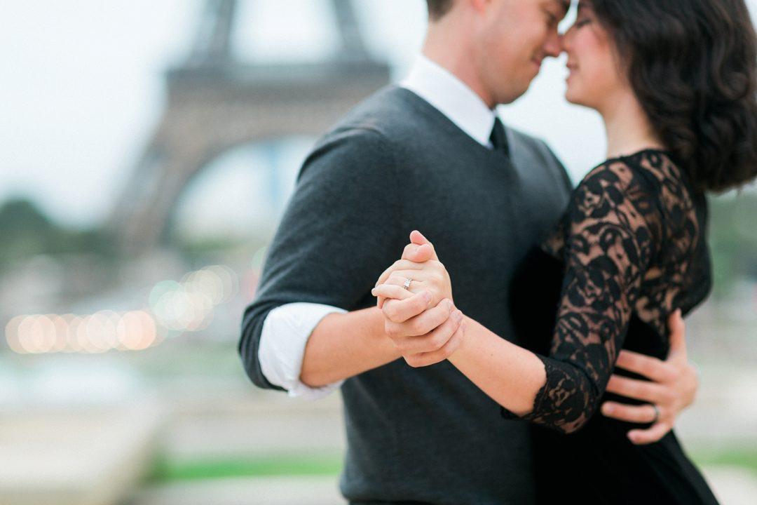 Paris engagement photographer Eiffel Tower Love session fine art film Fuji pro 400H wedding elopement