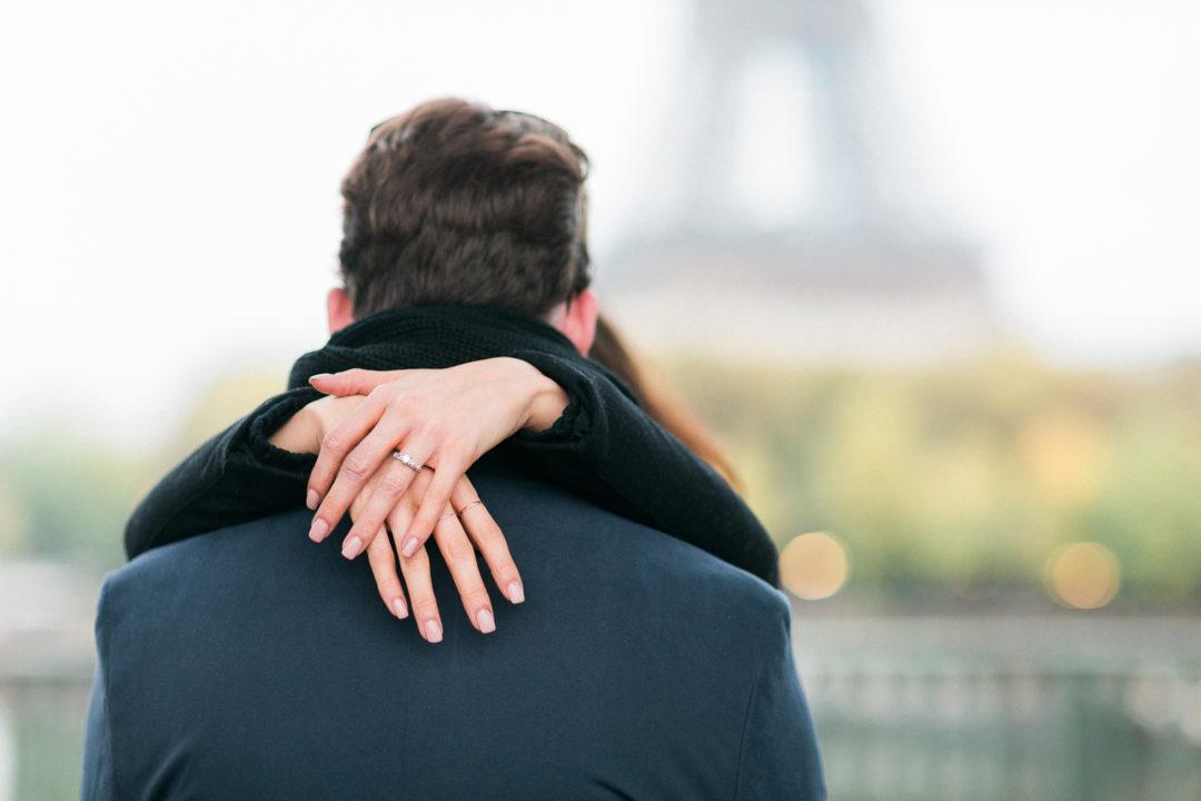 Paris surprise proposal Eiffel Tower engagement shoot fine art film photography session France