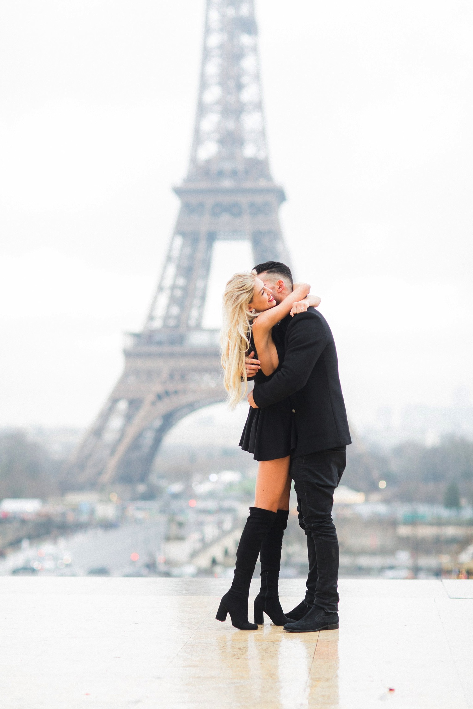 Proposal Eiffel Tower French Grey Photography Paris13