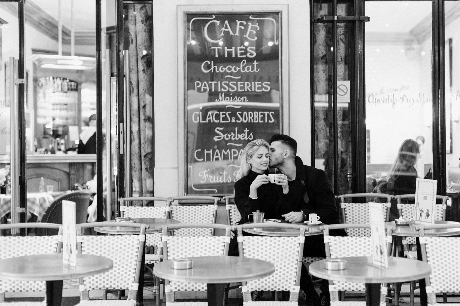 Proposal Eiffel Tower French Grey Photography Paris21