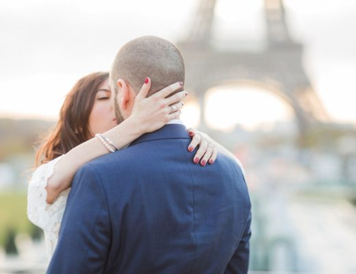Paris surprise proposal photographer engagement shoot natural light film fine art France love session Eiffel Tower natural light fine art film romantic shoot elegant France
